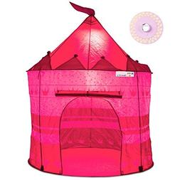 Pretty Princess Castle Play Tent for Girls – Includes LED