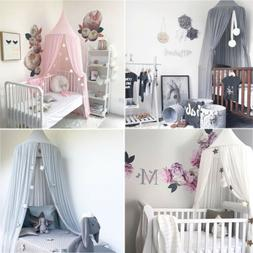 Princess Baby Girl Bedding Dome Cotton Tent Bed Canopy Hangi