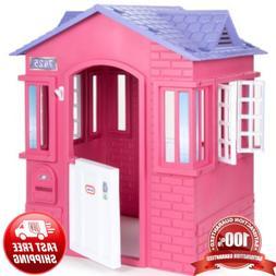 Princess Cottage Playhouse Pink Castle Girls Palace Play Ten