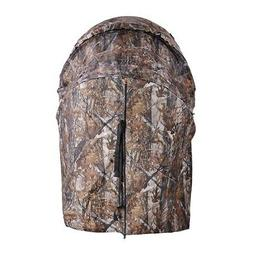 Pro Hunting Chair Ground Blind Real Tree Camo Tent One Man H