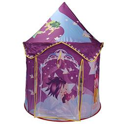 "48"" Purple Princess Castle Playhouse Portable Foldable Tent"