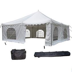 DELTA Canopies 20'x20' PVC Pole Tent - Heavy Duty Wedding Pa