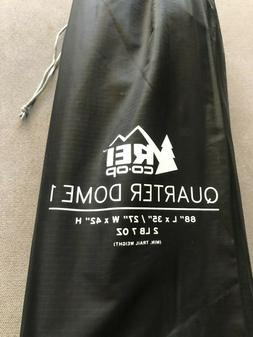 REI quarter dome 1 tent Red Hot/Seattle Mist, backpacking li