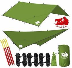CHILL GORILLA 12' HAMMOCK RAIN FLY TENT TARP Waterproof Camp