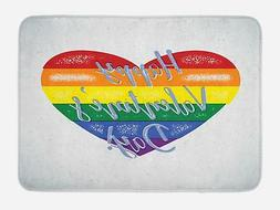 Rainbow Bath Mat for Bathroom Home Decor Plush Non-Slip Mat