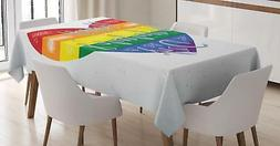 Rainbow Tablecloth Ambesonne 3 Sizes Rectangular Table Cover