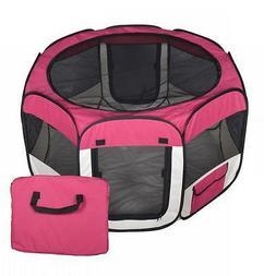 New Medium Red Pet Dog Cat Tent Playpen Exercise Play Pen So