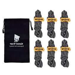Geertop 4mm Reflective Tent Guide Rope Guy Line Cord Aluminu