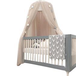 Jiyaru Round Mosquito Net Baby Dome Crib Netting Princess Ca