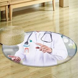 Small round rug Carpet Protect the teeth door mat indoors Ba