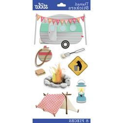 Scrapbooking Crafts Stickers Stickos Happy Camper Retro Tent