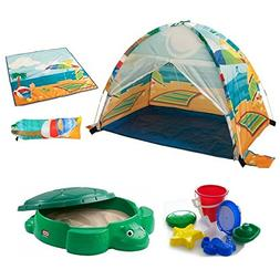Kids Seaside Beach Cabana With Beach Mat & Bag, Little Tikes
