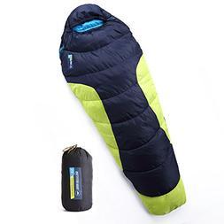 All Season XL Mummy Sleeping Bag - Perfect for Camping, Hiki
