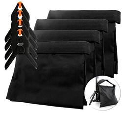 8-Piece Set Photography Sand Bags w/Clips ; Saddlebag Design