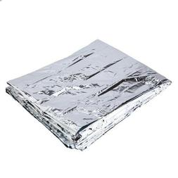 Silver Outdoor Emergency Survival Blanket Rescue First-Aid C
