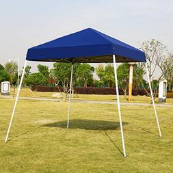 VIVOHOME Slant Leg Outdoor Easy Pop Up Canopy Party Tent Blu