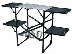 GCI Outdoor Slim-Fold Camp Kitchen Portable Folding Cook Sta