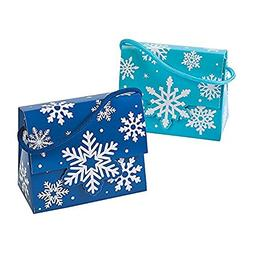 Snowflake Tent Boxes with Handles, 12 Count