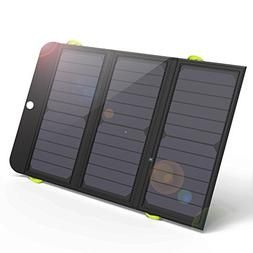 ALLPOWERS 21W Solar Charger with 6000mAh Battery, 3 USB Port