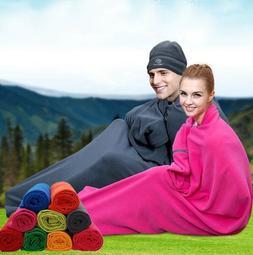 Camping Cloak Coat Warm Sleeping Bag Tent Bed Single Sleep E