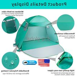 Summer Portable Pop Up Beach Canopy Cabana Family Camping Te