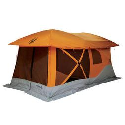 Gazelle Tents T4 Plus Outdoor Pop Up 8 Person Hub Tent with