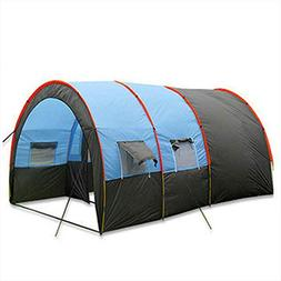 Large Team Tent Outdoor Camping Double Tunnel Tent Suitable