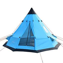 SAFACUS Teepee Tent for Adults 5-6 Person Camping,Waterproof