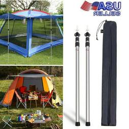 Tent Accessories Adjustable Telescoping Tarp Poles Set Of2 A