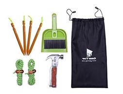 Geertop Tent Accessory Kit Tent Stakes & Multi-Function Camp