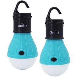 2 Pack Portable LED Lantern Tent Light Bulb for Camping Hiki