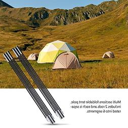 Tent Pole Rod, Outdoor 2PCS Aluminium Alloy Bar Rod Accessor