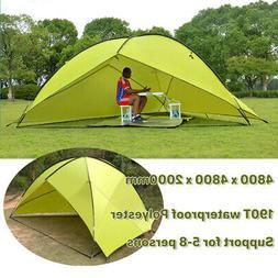 Tent Tarp Awning Beach Sun Shade Rain Shelter Outdoor Fishin