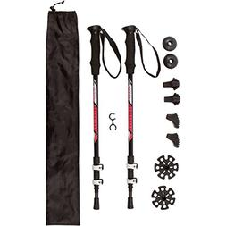 Premium TREK PRO Hiking Poles/Trekking Poles Ultralight Alum