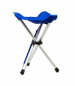 Coghlans Tripod Stool Blue Folding Aluminium Carrying Straps
