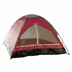 Two Person 2 Man Red Tent with Carry Bag Kids Teens Camping