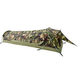 Geertop Ultralight 1-Person Waterproof Bivy Tent, Camouflage