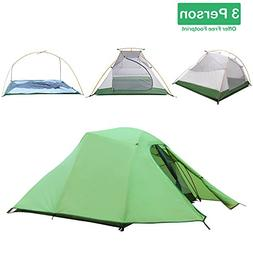 Topnaca Ultralight Backpacking Tent 2 3 Person for Camping,