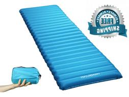 Ultralight Sleeping Pad, Inflating Camping Mattress w/Air Pu