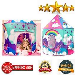 Unicorn Tent for Girls - Unicorn Pop Up Kids Tent w/ Unicorn