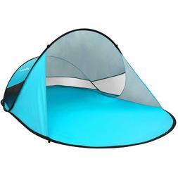 UPF 50+ Pop Up Beach Tent  3-4 Person Sun Shelter, Portable
