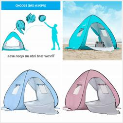 Wolfwise UPF 50+ Pop up Beach Tent Sun Shelter Outdoor Insta