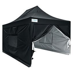 Quictent Upgraded Privacy 10x15 EZ Pop up Canopy Tent Instan