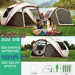 US 4-6 Person Instant Pop-Up Camping Tent Waterproof Automat