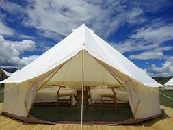 US Shipped 4M 5M Waterproof Oxford Cloth Glamping Yurt Famil