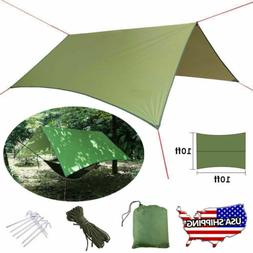 US Waterproof Camping Tent Tarp Shelter Hammock Cover Lightw