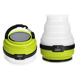 Odoland USB Rechargeable Solar Lantern, 3 Modes Collapsible