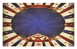 Ambesonne Vintage Doormat, Circus Theme Retro Carnival Tent