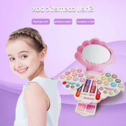 Washable Pretend Kid Make Up Kit Gift Nontoxic Makeup Case T