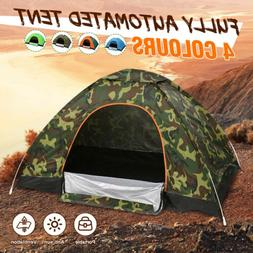 Waterproof 1-2 People Automatic Instant Tent Blue Camping Hi
